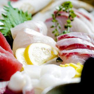 旬に合わせた鮮魚が日替で楽しめます。
