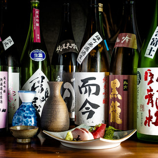 拘りの日本酒を美味しい料理とご一緒に