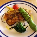 坂元食堂 - ★鮮魚の香草パン粉焼き 粒マスタード風味