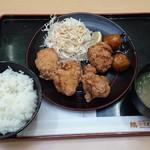 鶏三和 - 唐揚げ定食