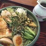 囲炉裏焼と蕎麦の店 うえ田 - 料理写真:「冷やし力そば」830円+「大盛」130円