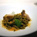 西麻布 K+ - 鮑と肝とカラスミのスパゲッティー