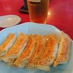 84921035 - ビールと焼餃子の最強コンビ