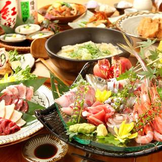 新鮮な食材による贅沢なお料理の数々