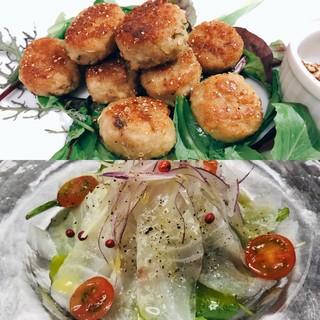 今月のおすすめ!!チキンのポルペッティ&潮鯛のカルパッチョ