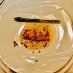 シェ・ブラウゼ - 白身魚のムニエル 長野県産グリーンアスパラのソテー