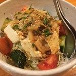 蜃氣楼 - 焼き筍と京豆腐のサラダ