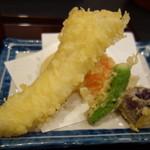 手打ちそば 膳 - 穴子天ぷら
