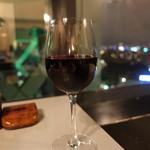 夜景とフォンデュ Bolero - ☆グラスの赤ワイン☆