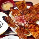き久好 - 十勝豚丼(赤ダレ)特上二層盛り1390円+税