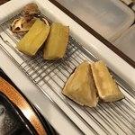 旬彩 天ぷら 心来(しんら) - 芋は2種類、違いがはっきりわかります