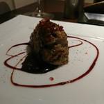 霜月 - ハンバーグがめっちゃ暗い…:(´;Д;`):味付は今回は赤ワインソースやった!めっちゃ肉汁♡ラブ♡