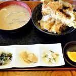 魚忠 - 穴子とエビ天丼