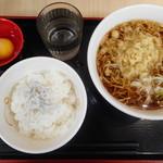 いろり庵きらく - しらす玉子かけご飯セット¥420-