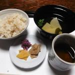 筍亭 - 食事