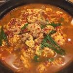辛麺 一門 - 辛麺(辛さ5)、アップ