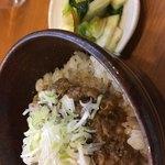 中華そば うえまち - 料理写真:黒豚味噌ごはん