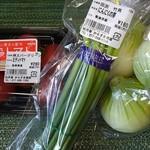 ロック ベイ ショップ - お野菜も購入…滋賀産にんにくの芽がありました。