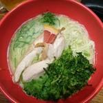 84957473 - 豆乳アオサ鶏パイタン麺