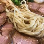 84968293 - 肉そばの麺 アップ