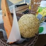 北欧 上野毛店 - 明太子フランスと紅茶のメロンパン