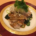 祥瑞楼 - 蒸し鶏のごまだれ(¥1500)