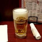 天津飯店 - 生ビール:480円税別