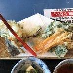カタクリの花 - 清流定食の天ぷら