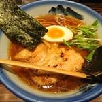 AFURI - 2018年4月 醤油ラーメン+炙りチャーシュー1枚+真空手揉麺(麺変更) 880+280+180円