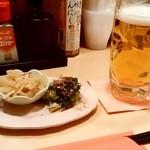84978208 - 寿庵@みろく横丁 生ビールとお通し