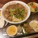 84979248 - 牛肉3種類盛りフォーランチセット+ベトナム前菜3点セット