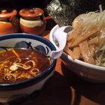 つけ麺 松ふじ - 特製うま辛みそつけ麺のタレ