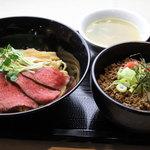 神戸製麺 - ローストビーフ油そばセット