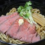神戸製麺 - ローストビーフ油そば(特盛)