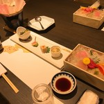 湯けむりの里 柏屋 - 料理写真:前菜・お刺身