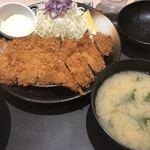 松のや - 料理写真:ロースとササミカツ定食