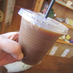 コーヒ豆 琥珀 - アイスコーヒー