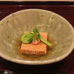 銀座 喰い切りひら山 - 先付 曙豆腐