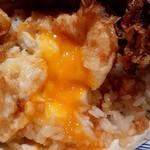 日本橋 天丼 金子半之助 - 半熟卵
