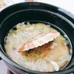 杜氏賛歌 - 帆立のお味噌汁