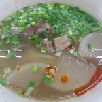 蘭州料理 ザムザムの泉 - 蘭州牛肉麺(麺は4.窄韮葉)