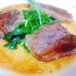 ペペロンチーノ - 黒毛和牛のソテーバルサミコ風味