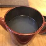 甚九郎 - 蕎麦湯はこんなん