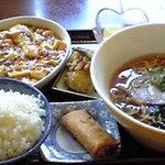 花丘飯店 - 麻婆豆腐ランチ