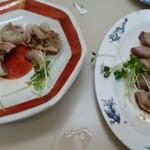 丸玉食堂 - 生腸とタン(ちょっと食べた後です。スミマセン。 )