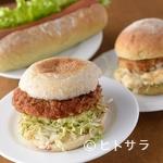 エコトコファーマーズカフェ - 地元名産の里芋を使った『里芋コロッケバーガー』