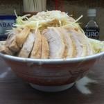 ラーメン二郎 - 小豚W+ねぎ ※ヤサイ、ニンニク、アブラ