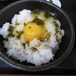 四季蕎麦 - 料理写真:卵かけごはん(アップ)