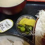 とんかつ 麻釉 - 2018年4月 ジャンボロースかつ定食 1620円