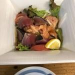 酒饌亭 灘菊 - 海鮮サラダ塩麹ドレッシング